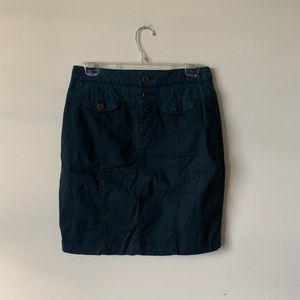 Anthro Hei Hei Navy cargo utility mini skirt